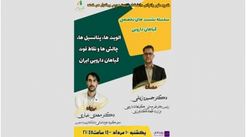 رویداد الویت ها، پتانسیل ها، چالش ها و نقاط قوت گیاهان دارویی ایران
