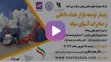 ویدئو توسعه بازار هدف داخلی و صادرات آسیای میانه